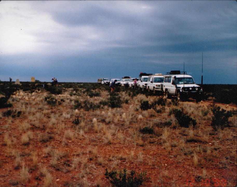 2003 Rain Approaching Convoy at Totem2 Atomic Site Photo by Scott Hamilton